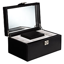 Buy LC Designs Pretty Jewellery Box, Large, Black Online at johnlewis.com
