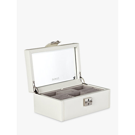 Buy Dulwich Designs Pretty Jewellery Box, Medium, Cream Online at johnlewis.com