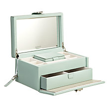 Buy LC Designs Pretty Jewellery Box, Large, Duck Egg Online at johnlewis.com