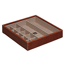 Buy STACKERS by LC Designs Cufflink Tray Accessory Box, Check Lining Online at johnlewis.com