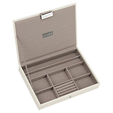 Buy Stackers Jewellery Box Lid, Vanilla Online at johnlewis.com