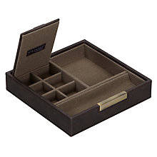 Buy STACKERS by LC Designs Accessory Box Lid, Khaki Lining Online at johnlewis.com