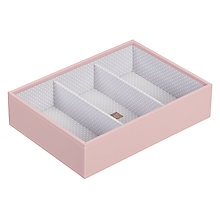 Buy Stackers Jewellery 3-section Tray, Soft Pink Online at johnlewis.com