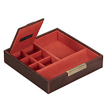 Buy STACKERS by LC Designs Accessory Box Lid, Orange Lining Online at johnlewis.com