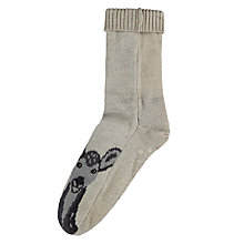Buy Aroma Home Deer Bed Socks, White, 4 - 7 Online at johnlewis.com
