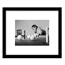 Buy Getty Images Gallery Billiard James Bond Framed Print, 49 x 57cm Online at johnlewis.com