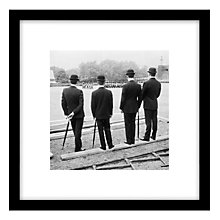 Buy Getty Images Gallery Off Duty Soldiers Framed Print, 59 x 59cm Online at johnlewis.com