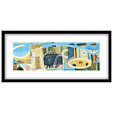 Buy Carol Saunderson - Life Along a Coastline Framed Print, 104 x 49cm Online at johnlewis.com