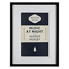 Buy Penguin Classics - Music At Night by Aldous Huxley Framed Print, 42 x 32cm Online at johnlewis.com
