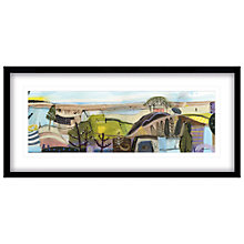 Buy Carol Saunderson - The Pink House Framed Print, 104 x 49cm Online at johnlewis.com