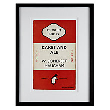 Buy Penguin Classics - Cakes And Ales by W. Somerset Maugham Framed Print, 42 x 32cm Online at johnlewis.com