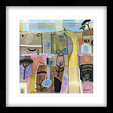 Buy Carol Saunderson - Long Walk By The Sea Framed Print, 54 x 54cm Online at johnlewis.com