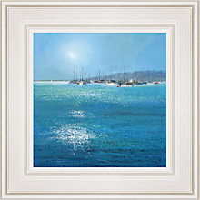 Buy Michael Sanders - Moored Boats Framed Print, 55 x 55cm Online at johnlewis.com