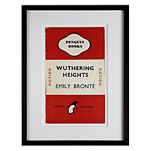 Buy Penguin Classics - Wuthering Heights by Emily Bronte Framed Print, 42 x 32cm Online at johnlewis.com