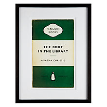 Buy Penguin Classics - The Body In The Library by Agatha Christie Framed Print, 42 x 32cm Online at johnlewis.com