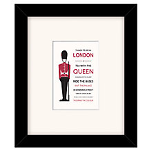 Buy East of India Things To Do In London Framed Print, 27 x 23cm Online at johnlewis.com