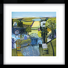 Buy Carol Saunderson - Sunlit Avenue to the Sea Framed Print, 54 x 54cm Online at johnlewis.com