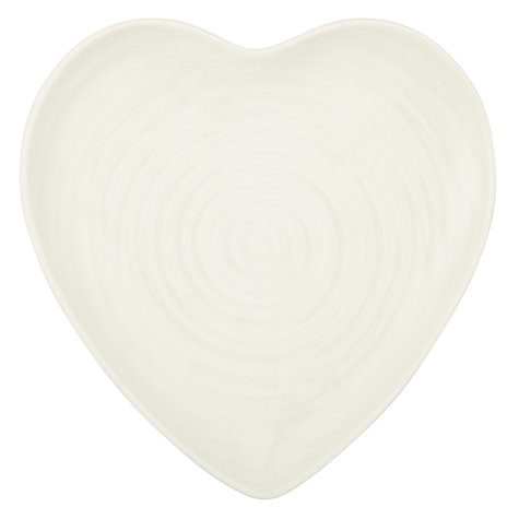 Buy Sophie Conran for Portmeirion Small Heart Plate, White Online at johnlewis.com