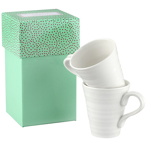 Buy Sophie Conran for Portmeirion Solo Mugs, Set of 2, White Online at johnlewis.com