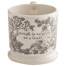 Buy Doris Enough is as Good as a Feast Mug Online at johnlewis.com