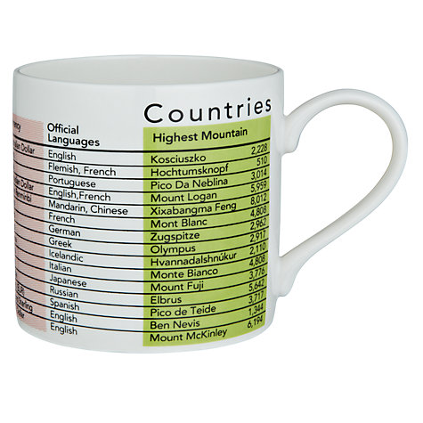Buy Mclaggan Smith Countries Mug, 0.45L, Multi Online at johnlewis.com
