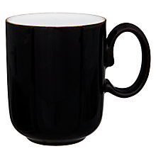 Buy Denby Jet Black Mug, 0.3L, Black Online at johnlewis.com