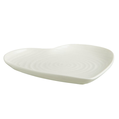 Buy Sophie Conran for Portmeirion Medium Heart Plate, White Online at johnlewis.com