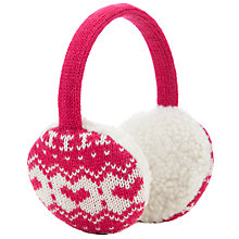 Buy John Lewis Girl Christmas Fair Isle Ear Muffs, Berry Red Online at johnlewis.com