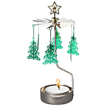Buy Pluto Christmas Tree Chimes Tealight Holder, Green Online at johnlewis.com