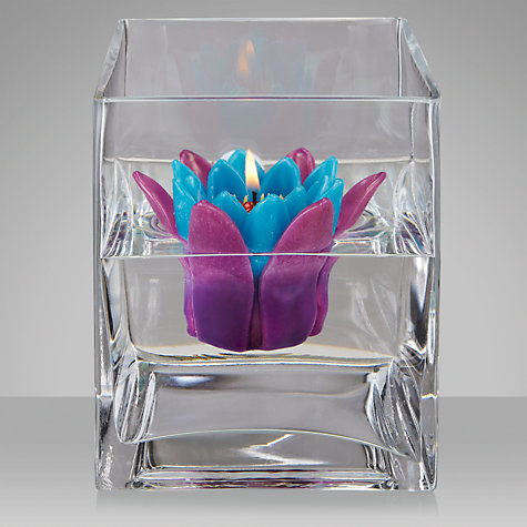 Buy John Lewis Floating Waterlily Candle, Caravanne, Large Online at johnlewis.com