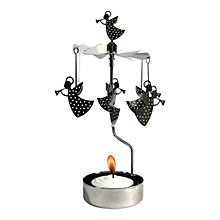 Buy Pluto Chimes Angels Chimes Tealight Holder, Gold/ Silver Online at johnlewis.com