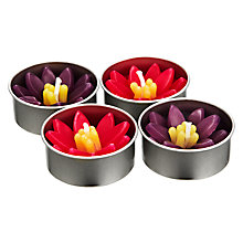 Buy John Lewis Floating Waterlily Candles, Caravanne, Small, Pack of 4 Online at johnlewis.com