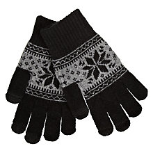 Buy Kondor Touchscreen Glove, Black/ Grey Online at johnlewis.com