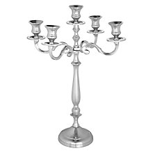 Buy John Lewis Chrome Effect 5 Arm Candelabra, Silver Online at johnlewis.com