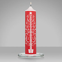 Buy John Lewis Advent Column Candle, Red Online at johnlewis.com