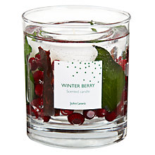 Buy John Lewis Winter Berry Gel Candle, Medium Online at johnlewis.com