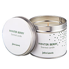 Buy John Lewis Winter Berry Tin Candle Online at johnlewis.com