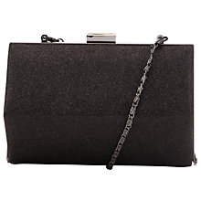 Buy COLLECTION by John Lewis Glitter Hexaganol Clutch, Black Online at johnlewis.com