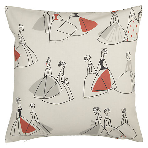 Buy Sanderson Fifi Cushion, Grey / Coral Online at johnlewis.com