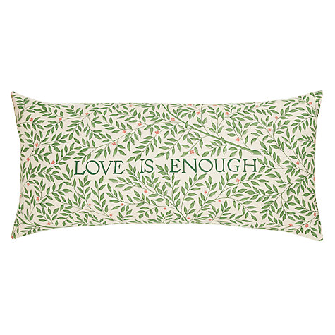 Buy William Morris Love is Enough Cushion Online at johnlewis.com