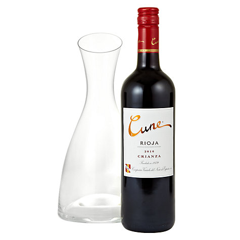 Buy Cune Rioja and Decanter Gift Set Online at johnlewis.com