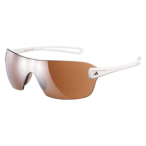 Buy Adidas Duramo Glasses, Shiny White, Small Online at johnlewis.com