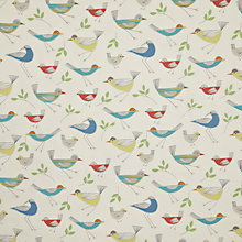 Buy John Lewis Stick Birds PVC Tablecloth Fabric, Multi Online at johnlewis.com