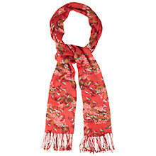 Buy White Stuff Keiko Bird Scarf, Samurai Red Online at johnlewis.com