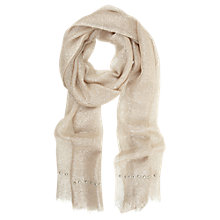 Buy Mint Velvet Foundation Scarf, Stone Online at johnlewis.com