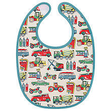 Buy Cath Kidston Baby Garage Bib, Stone Online at johnlewis.com