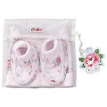 Buy Cath Kidston Notting Hill Baby Hat & Booties Gift Pack, Rose Online at johnlewis.com