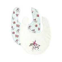 Buy Cath Kidston Tiny Cowboy Bibs, Pack of 2, Multi Online at johnlewis.com