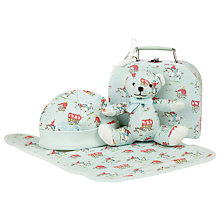 Buy Cath Kidston Tiny Cowboy Mini Suitcase Baby Gift Set, Blue Online at johnlewis.com