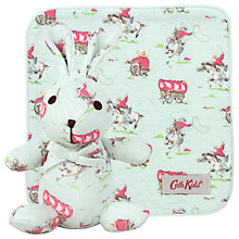 Buy Cath Kidston Mini Notting Hill Rose Bunny Squeaker & Flannel Gift Set, Blue Online at johnlewis.com